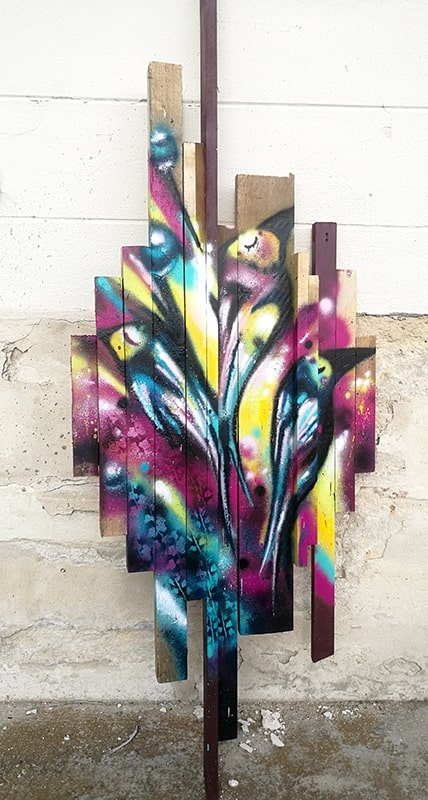 Bouquet sur bois, 2020