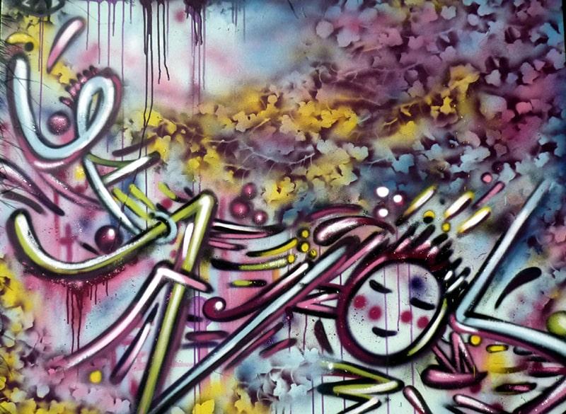Graff sur lierre 1, 2010